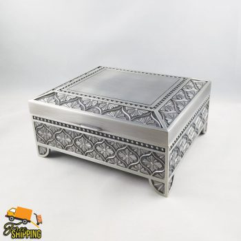 Large Pewter Square Jewellery Box