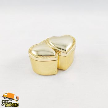 Gold Double Ring Box