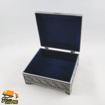 Small Pewter Rectangle Jewellery Box