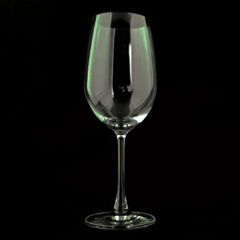 Blank Red Wine Glass