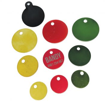 Round Disc Engraved Pet Tag