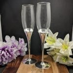 Bow Tie Toasting Glass Set