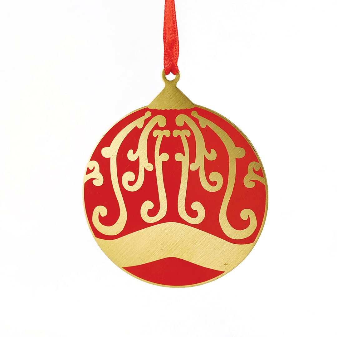 Red and Gold Babbule Ornament