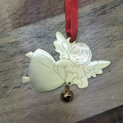 Angel with Bell Christmas Ornament