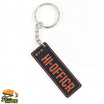 Black and Red PlateIt Key Chain