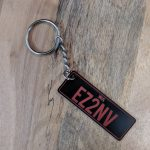 Red Licence Plate Key ring