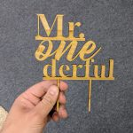 Mr One derful Cake Topper