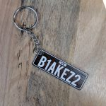 Wood Licence Plate Key ring