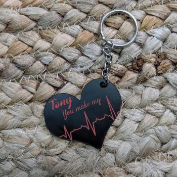 Heart Beat Key Ring
