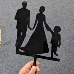 Man, Woman and Son Cake Topper