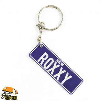 Purple and White Platelt keychain