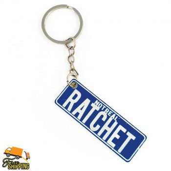 Blue and White PlateIt Key Chain