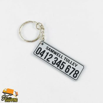 Contact Details Key Chain with Free Shipping